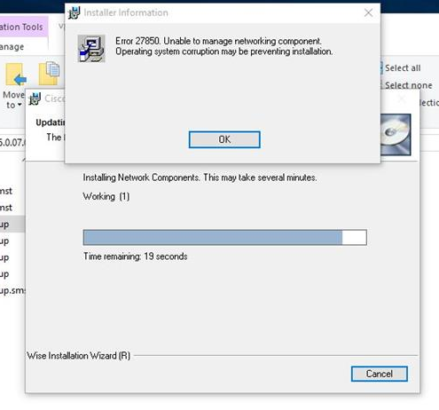 cisco vpn client windows 8.1 failed to enable virtual adapter